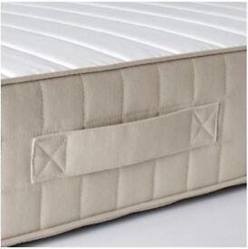 IKEA Standard King Sprung mattress - HAFSLO Firm/beige