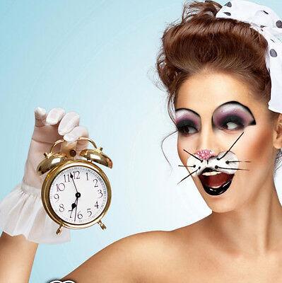 Halloween Eye Mask Makeup (Rabbit Eyes Mask Nose Whiskers Halloween Costume Xotic Eye Wear Stage Makeup)