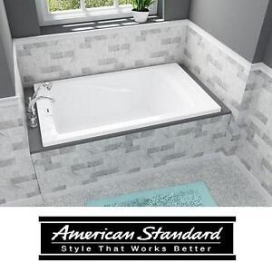 "NEW AS REVERSIBLE DRAIN BATH TUB - 122544472 - AMERICAN STANDARD BATHTUB BATHTUBS TUBS SOAKING TUB - 5' x 36"" - WHITE"