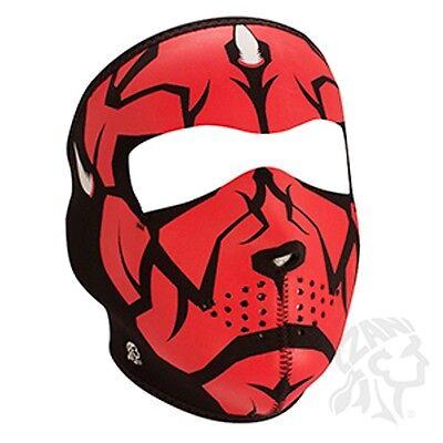 Red Glow in Dark Lord Neoprene Full Face Mask Ski  ATV Motorcycle Free Shipping - Dark Red Face