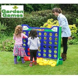 NEW GARDEN GAMES GIANT CONNECT 4 OVERSIZED PLASTIC SNAP CONSTRUCTION LAWN GAME OUTDOORS RECREATION ENTERTAINMENT