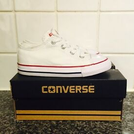 White Converse - infants size 9 - brand new