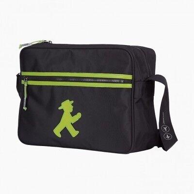 6b39c12a9b9fc AMPELMANN Trainer Tasche NEU OVP schwarz grün Geher City Bag Berlin Souvenir