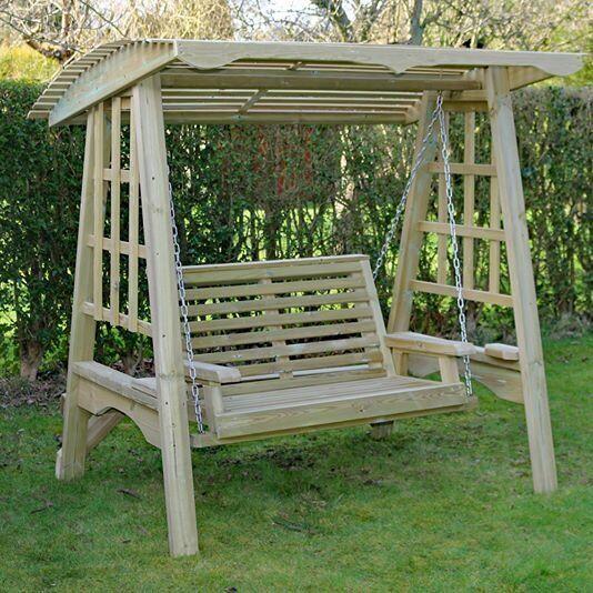 Charming Share Save Wooden Garden Swing, Wooden Garden Furniture , Wooden Swing .  Hammock . Outdoor