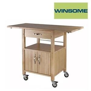 NEW* WINSOME KITCHEN CART Drop-Leaf Kitchen Cart 104646168
