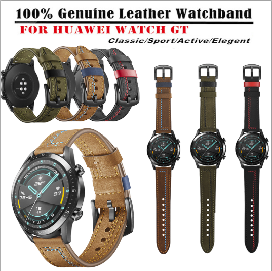 22mm Watch band For Huawei Watch GT2 46mm Sports  Leather Wa
