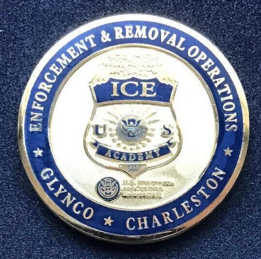 ICE ACADEMY CHARLESTON GLYNCO OFFICER BADGE ICE CHALLENGE COIN ERO D H S