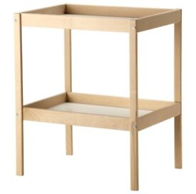 Ikea baby changing unit table pine from birth change nursery furniture