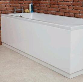Bath panel with matching plinth Gloss White 1700mm Brand New