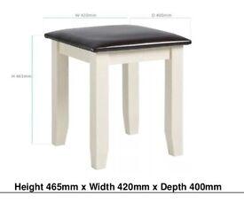 Solid oak alabaster stool