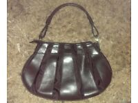 Ladies / Womans Brown Wallis Handbag / Clutch-Bag. Faux Leather and Material