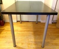 Ikea black table with screw-in legs
