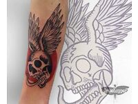 Junior tattoo artist offering a discounted price