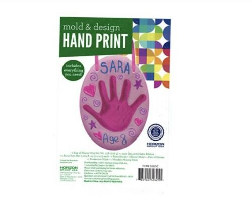 NEW Go Create Create Your Own Handprint Assortment Pink Clay Baby Girl