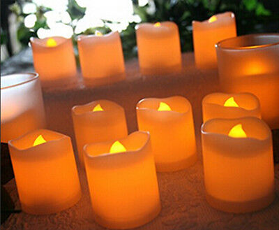 US 24 PCS Flameless Votive Candles Battery Operated Flickering LED Tea Light