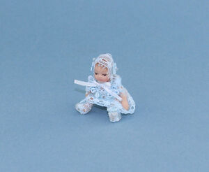 Beautiful Dollhouse Miniature Porcelain Baby Doll #WCPD128B