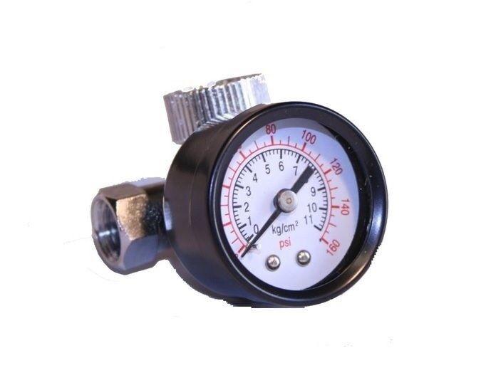 Air Regulator with Pressure Gauge, In-Line Air Regulator, Spray Gun Regulator