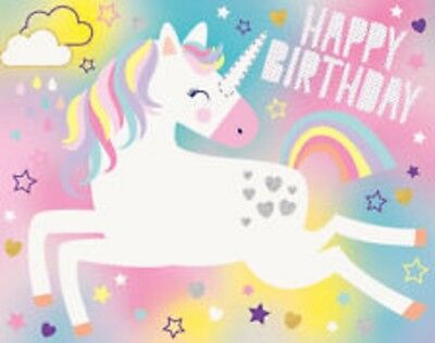 Unicorn Pin The Horn Happy Birthday Party Game For 16 People