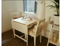 Ikea table and chairs ingatorp white