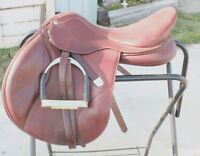 "17.5 "" Bates adjustable jumping saddle. ""in new condition"""