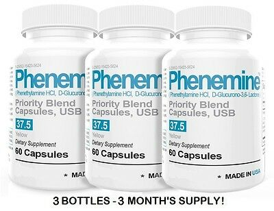 3 Phenemine Extreme Best Fast Diet Pills Appetite Suppressant Supplement Results