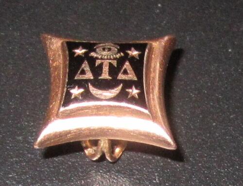 Antique Vintage Delta Tau Delta Fraternity Pin 14k Gold 1.8 grams