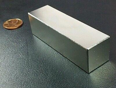One Huge N52 Neodymium Block Magnet Super Strong Rare Earth 3 Bar Over 5k Gauss