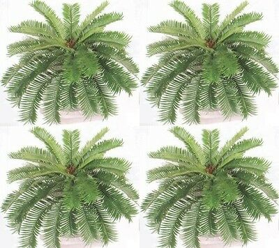4 Sago Palm Bush 40 Spread Artificial Plant Silk Fern Date Phoenix Flower Tree