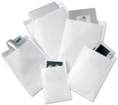 10 White Padded Bubble Postal Mailers Envelopes CD Size