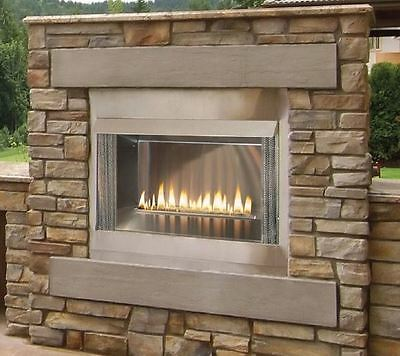 Outdoor Premium 42 Ss Firebox  30  Logset And Harmony Ip Burners  Lp