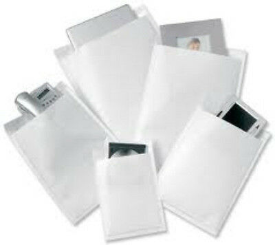 50 White Padded Bubble Postal Mailers Envelopes CD Size