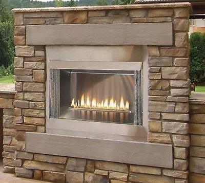 Outdoor Premium 36 Ss Firebox  24  Logset And Harmony Ip Burners  Lp