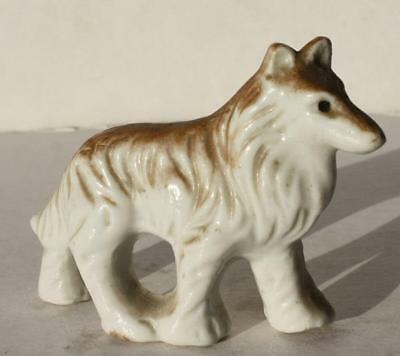 Collie Dog Figurine-Made in Japan Ceramic-Porcelain-Adorable-Hand Painted-Mini