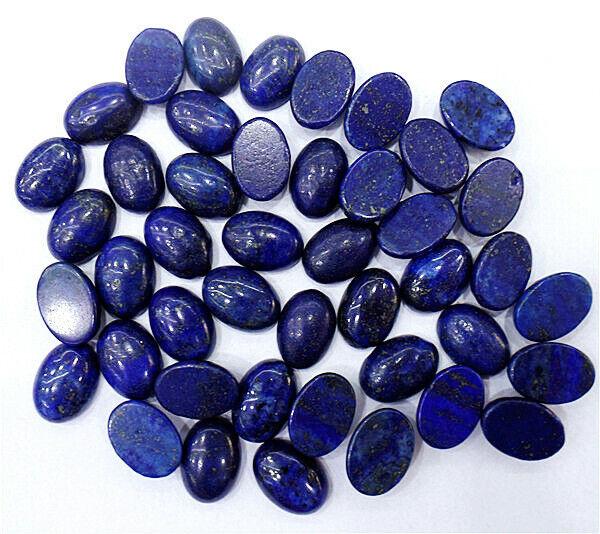 100Pcs 14x10x5mm Wholesale Natural Blue Lapis Lazuli Oval Cab Cabochon HH7110