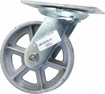Albion 6 Inch Diameter X 2 Inch Wide Swivel Caster With Top Plate Mount 7-1...