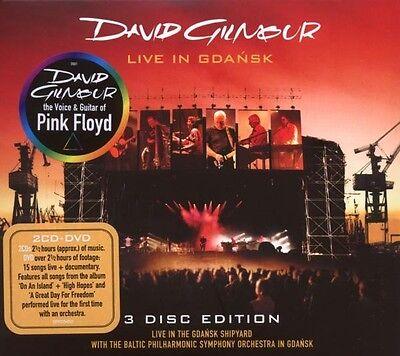 """DAVID GILMOUR """"LIVE IN GDANSK"""" 2 CD+DVD NEU"""