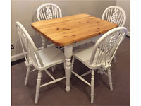 Farmhouse style table and four chairs