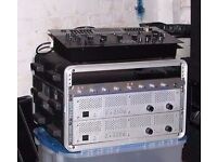 2 Skytec Amplifiers - For parts or repairs.