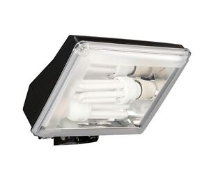 Low energy outdoor light ebay powerful low energy outdoor floodlight security light by philips 2 x 23w 250w aloadofball Choice Image