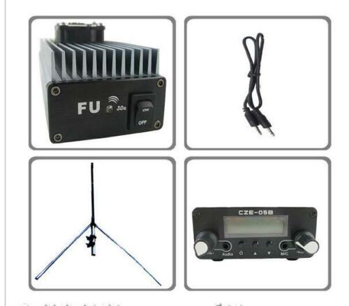 FU-30A 30W FM amplifier broadcast transmitter+0.5w Exciter GP100 antenna KIT