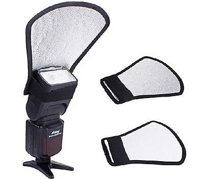 Réflecteur/Diffuseur 2en1 universel pour Flash Canon Nikon Yongnuo Metz Nissin..