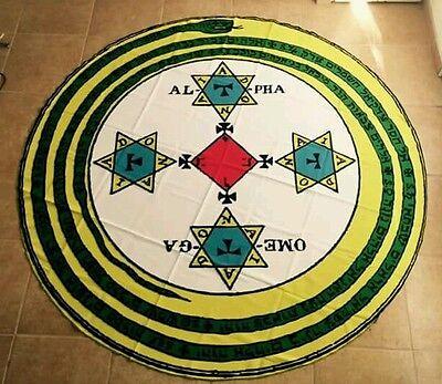 GOETIC MAGICK CIRCLE RITUAL MAT KEY OF SOLOMON 7.5 feet in Diameter