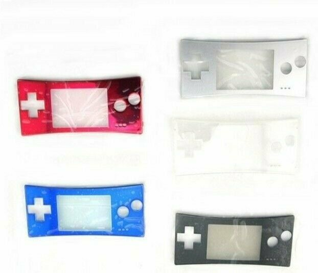 New Faceplate for Original Nintendo Game Boy Micro GBM Silver Black Red Blue