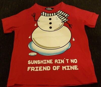 Used, Christmas t shirt suitable boy or girl age 3 for sale  Greenock