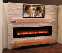 FIREPLACE MAKEOVER   by stone veneer      $ 599  only   !!!!