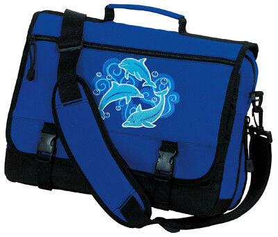 AWESOME Dolphin Design Messenger Bag BEST DOLPHINS BAGS School Carry-on