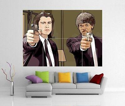 Pulp Fiction Pop Art John Travolta Samuel L  Jackson Giant Print Poster H204
