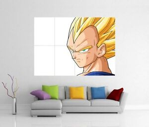 Dragon ball z vegeta g ant d coration murale imprim image for Decoration murale dragon ball z