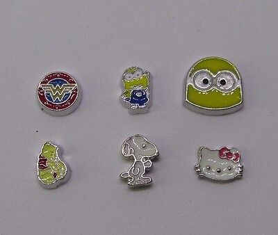 cartoon characters snoopy pooh bear and more Floating charms for living locket - Floating Lockets And Charms