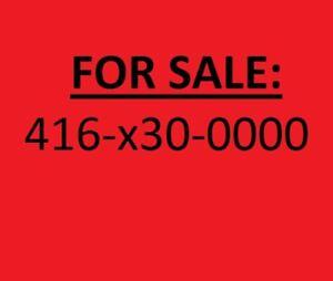 416 Numbers / VIP numbers / Repeating numbers Toronto 416